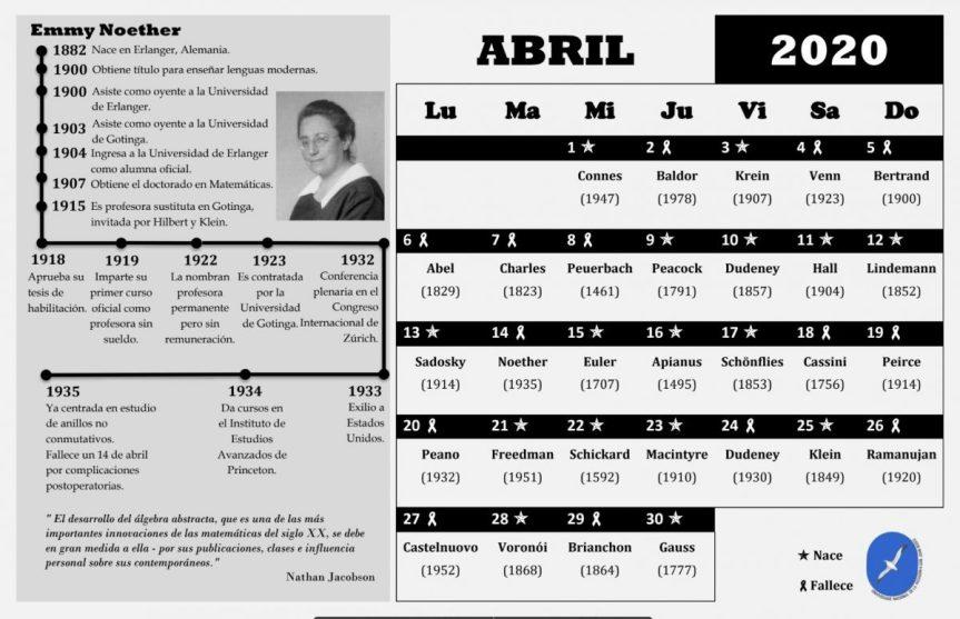 calendario de matemáticas