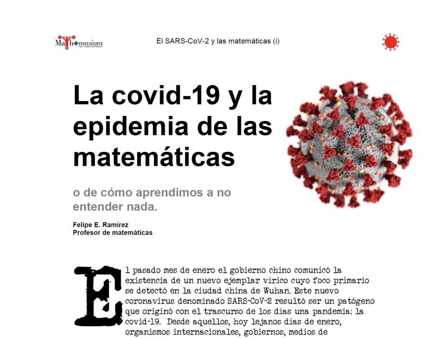 el SARS-CoV-2 y las matemáticas(i)